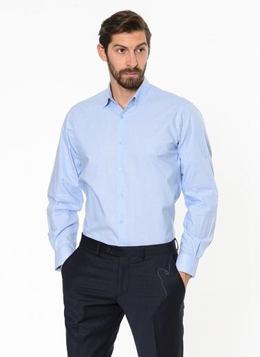 Daffari Uzun Kollu Klasik Gömlek Mavi